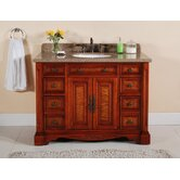 48&quot; Single Bathroom Vanity in Burled Wood