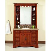 "48"" Single Bathroom Vanity Set in Burled Wood"