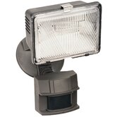 250 Watt Quartz Motion Activated Security Light in Bronze Finish