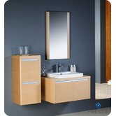 Mirano Modern Bathroom Vanity with Side Cabinet and Mirror