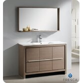"Allier 48"" Modern Bathroom Vanity with Mirror"