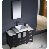 "Torino 48"" Modern Bathroom Vanity with 2 Side Cabinets and Vessel Sink"