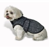 Herringbone Dog Coat in Black and White