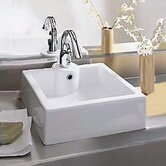 Cubo Bathroom Vessel Sink in White