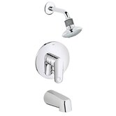 Europlus Shower Tub Combination Pressure Balance Diverter Tub Shower Faucet