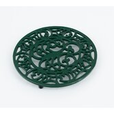 Octopus and Fish Trivet in Green