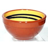 Terracotta Pudding Bowl in Yellow / Green (Set of 2)