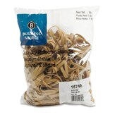 Rubber Bands, Size 62, 1 lb Bag, Natural Crepe
