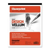 Vellum Pad, 50 Sheets, Acid-free, 8-1/2&quot;x11&quot;, White