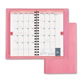 Planner,Wirebound,2PPM,3 -1/2&quot;x6-1/2&quot;,Vinyl Cover/Pink, 2012