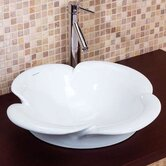 Semi-Recessed Ceramic Vessel Sink in White