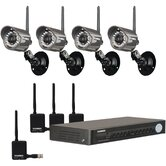 4 Channel Network Security DVR with 4 Wireless Camera