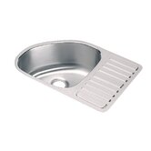Lustertone Mystic Undermount Sink with Side Rack