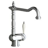 Victoria Single Handle Single Hole ADA Compliant Kitchen Faucet with Soap Dispenser and Optional Butler Cleaner