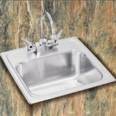 Pacemaker Self-Rimming Stainless Steel Bar Sink With One Hole Faucet