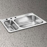 "Celebrity 33"" x 22"" Self-Rimming Double Bowl Sink Set"