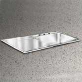 22&quot; x 43&quot; Lustertone Self Rimming Single Bowl Kitchen Sink with Single Drainboard - Right Handed