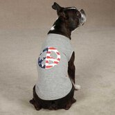 Americana Peace Flag Dog Tanks