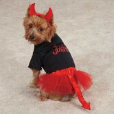 Lil' Devil Dog Skirt and Shirt Set
