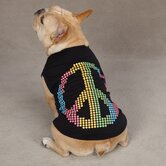 Electric Peace Dog Tank Apparel in Black