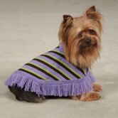 Striped Preppy Dog Poncho