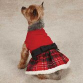 Yuletide Tartan Party Dog Dress