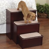 High Style Pet Step in Mahogany