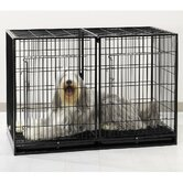 Extra Tall Modular Dog Cage in Black