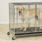 X-Tall Modular Dog Cage in Stainless Steel