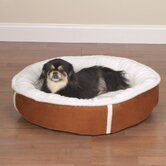 Sherpa Donut Pet Bed in Chestnut