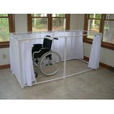 Wheelchair Accessible Portable Shower Stall Recliner Model