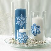 Crystal Snowflakes Peel and Stick Holiday Vinyl Decals