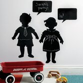 Vintage Kids Chalkboard Mural in Black