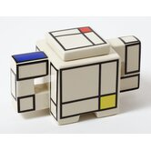 Mondriaan Sugar Bowl with Lid