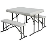 Collapsible Table with Bench