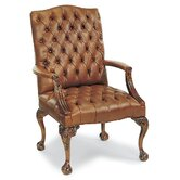 Tufted Leather Occasional Chair