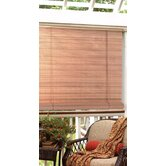 "1/4"" Oval Vinyl PVC Roll-Up Blinds in Woodgrain"