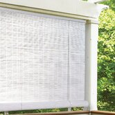1/4&quot; Oval Vinyl PVC Roll-Up Blinds in White