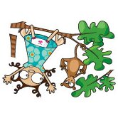 Ludo Lou and Kiki Wall Decal