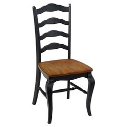 French Countryside Side Chair in Black (Set of 2)