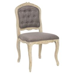 Annabelle Distressed Side Chair in Light Brown (Set of 2)