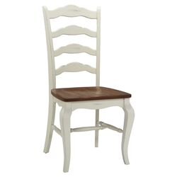 French Countryside Side Chair in White (Set of 2)