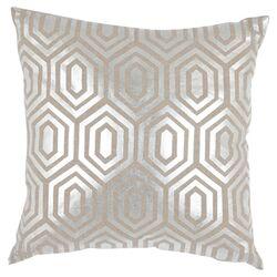 Harper Linen Decorative Pillow in Silver (Set of 2)