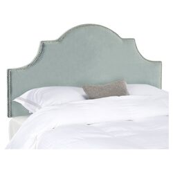 Hallmar Arched Upholstered Headboard in Wedgewood Blue