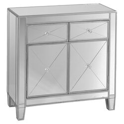 Hamilton Mirrored Cabinet in Silver