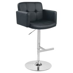 Stout Adjustable Barstool in Black