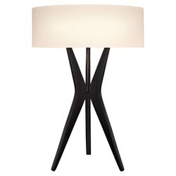 Bel Air Tripod Table Lamp in Satin Black