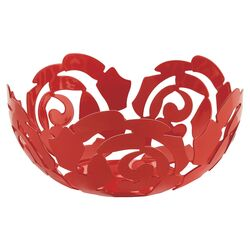 Emma Silvestris La Rosa Fruit Bowl in Flower Red