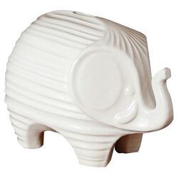 Elephant Piggy Bank in White