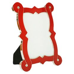 French Curve Picture Frame in Red